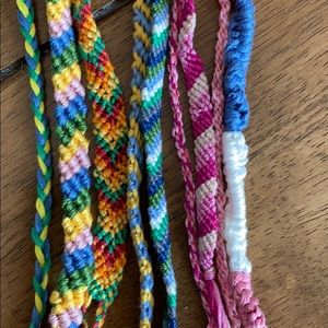 Bundle of 9 Friendship Bracelets